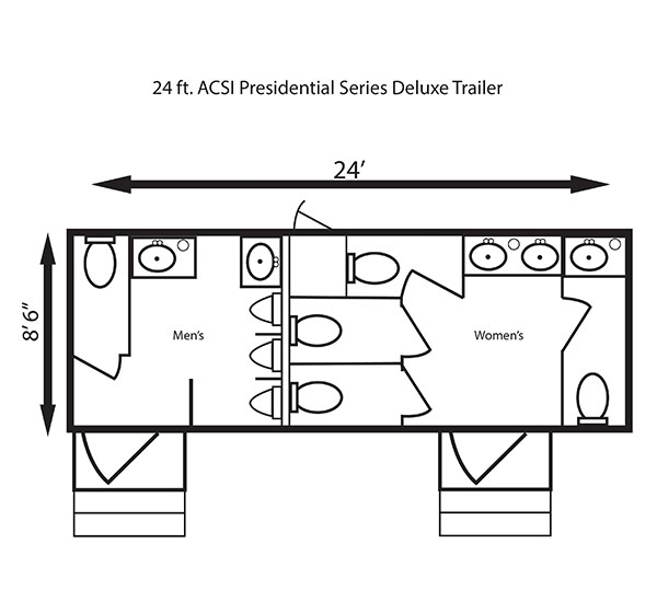 24 ft. ACSI Presidential Series Deluxe Trailer
